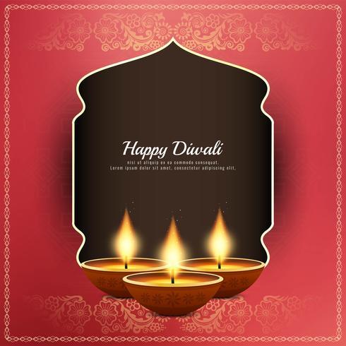 Fondo di saluto religioso astratto felice di Diwali