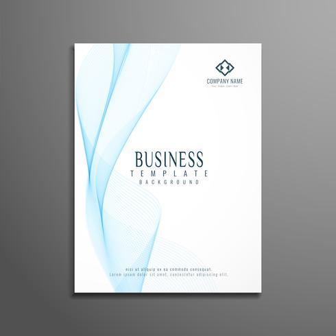 Design de modelo ondulado elegante do negócio abstrato panfleto