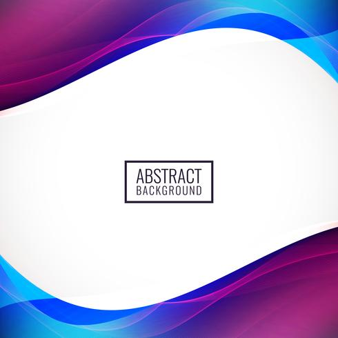 Abstract colorful wave background design vector