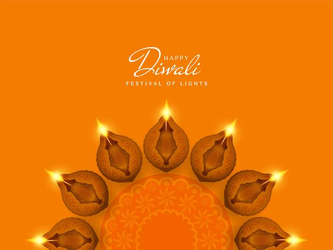 Abstract stylish Happy Diwali festival background vector