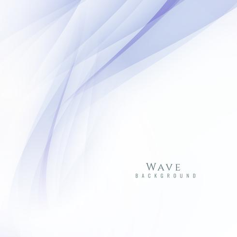 Abstract stylish wave modern background vector