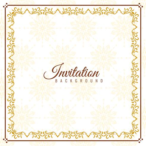 Design de fundo elegante convite abstrata