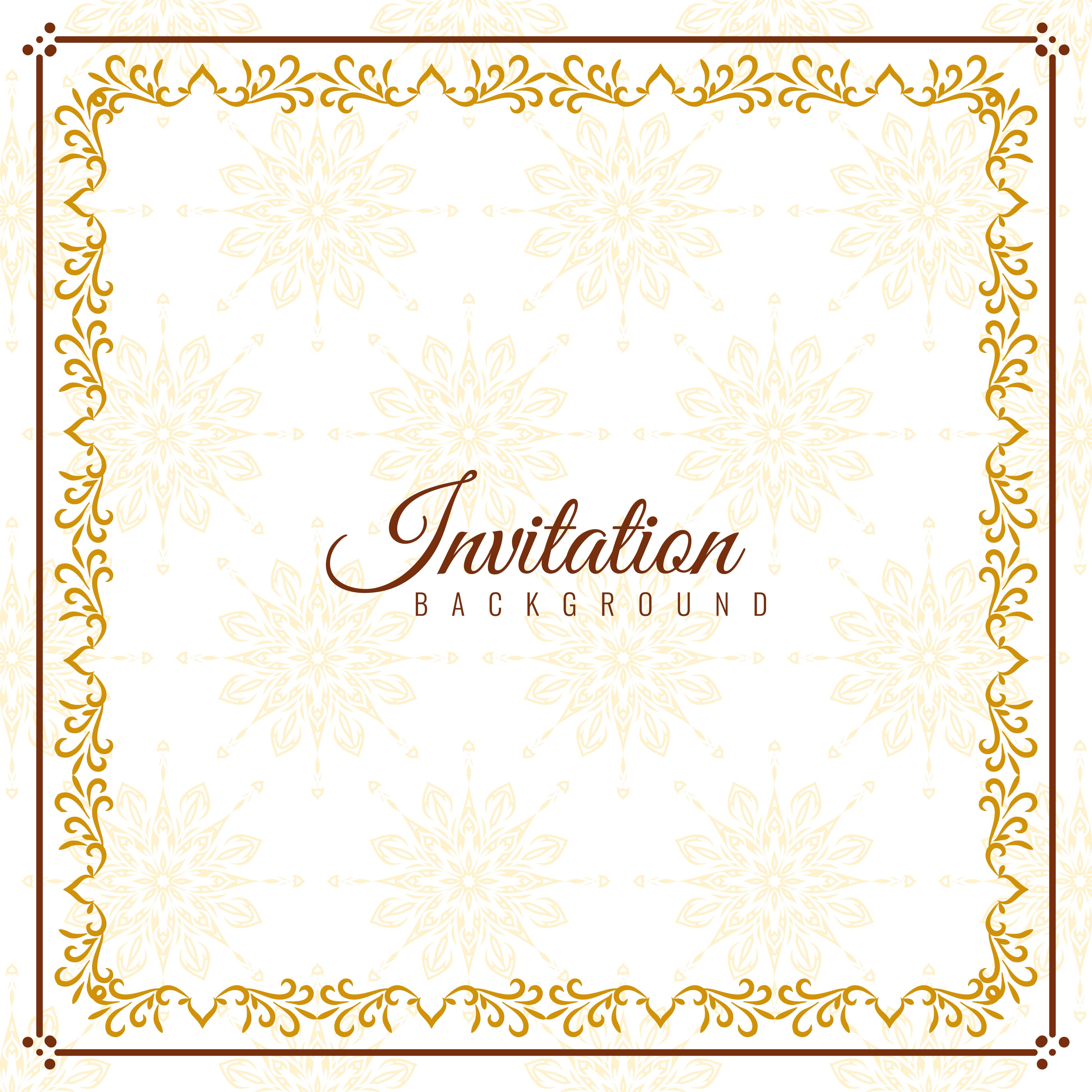 Abstract elegant Invitation background design Download