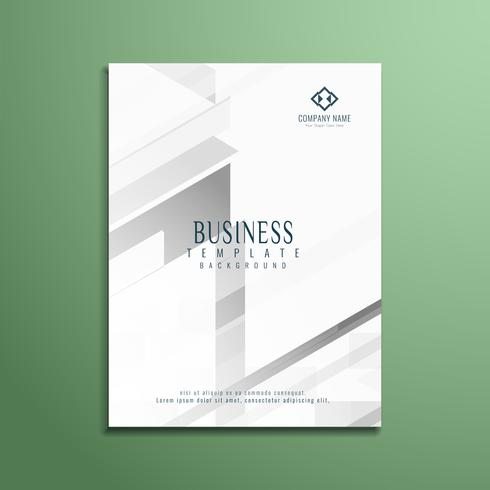 Abstract grey geometric business flyer template design vector