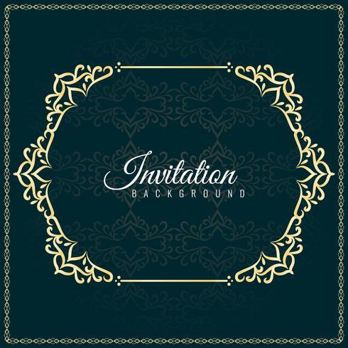 Design de fond abstrait invitation décorative
