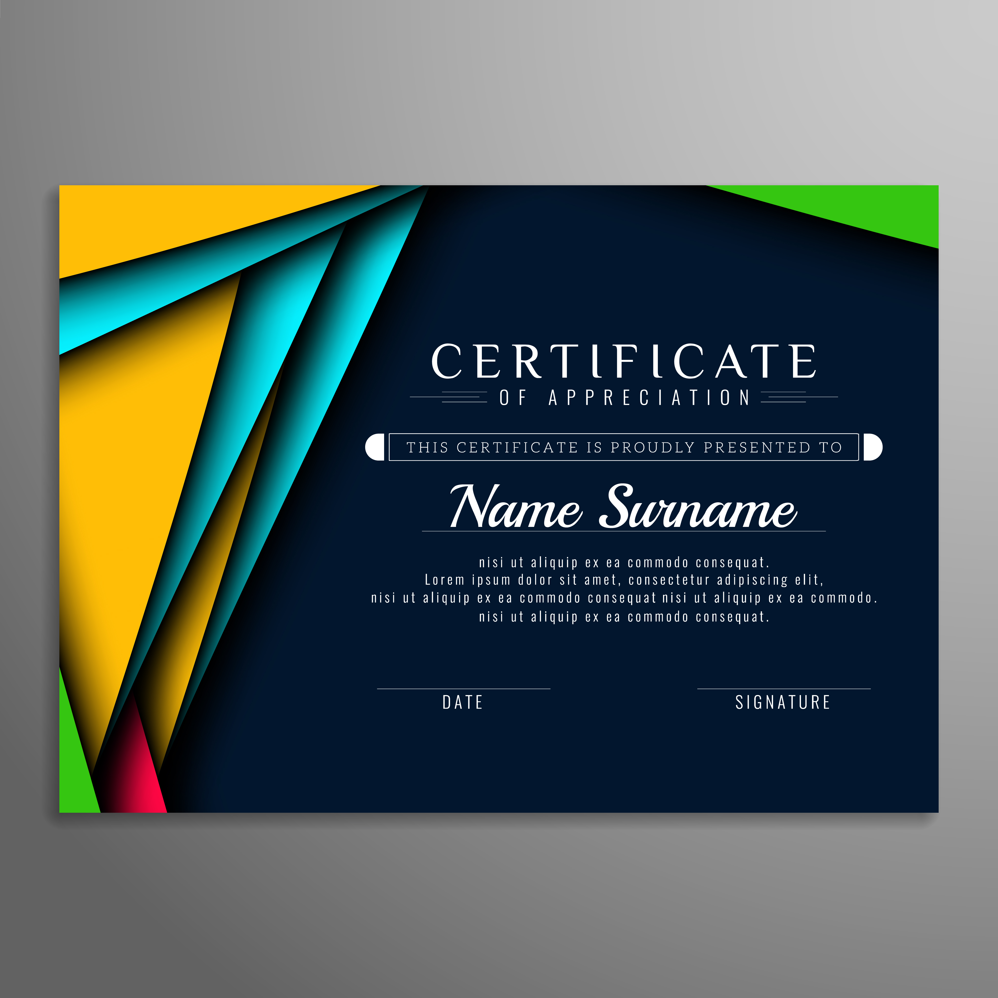 Abstract modern certificate background - Download Free ...