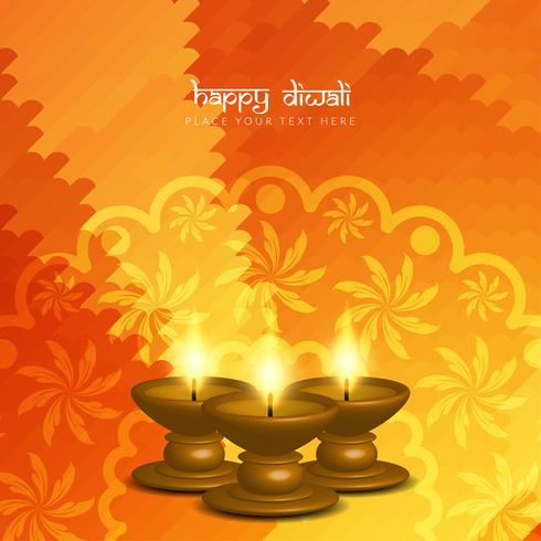 Diseño feliz hermoso abstracto del fondo del saludo de Diwali