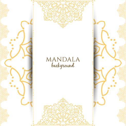 Abstract luxury mandala background vector