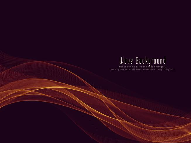 Abstract elegant colorful glowing wave background