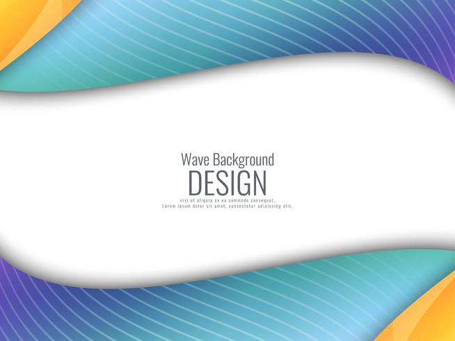 Abstract stylish colorful wavy background vector