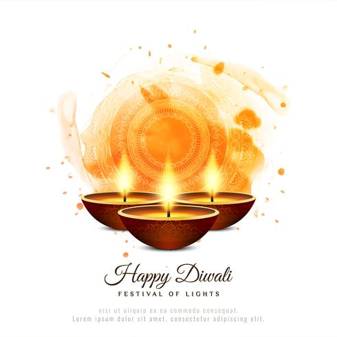 Fondo decorativo abstracto con estilo feliz Diwali vector