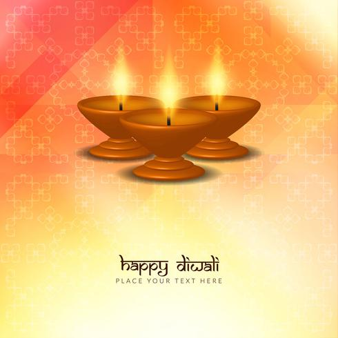 Abstract beautiful Happy Diwali greeting background design vector