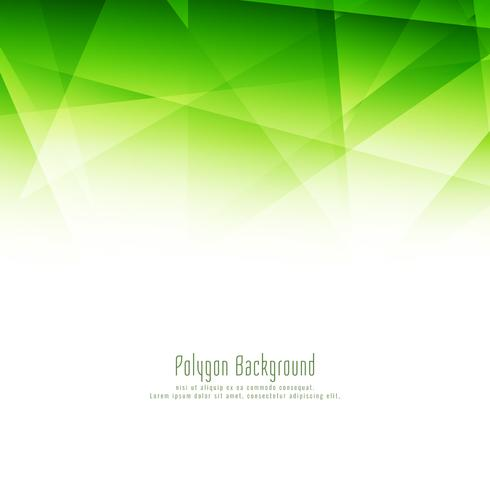 Abstract stylish green polygon design elegant background