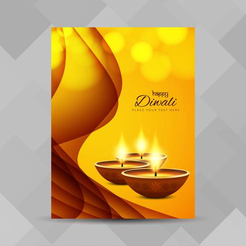 Abstract Happy Diwali brochure design template vector