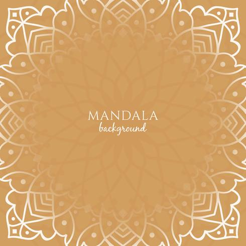 Abstract beautiful luxury mandala background vector