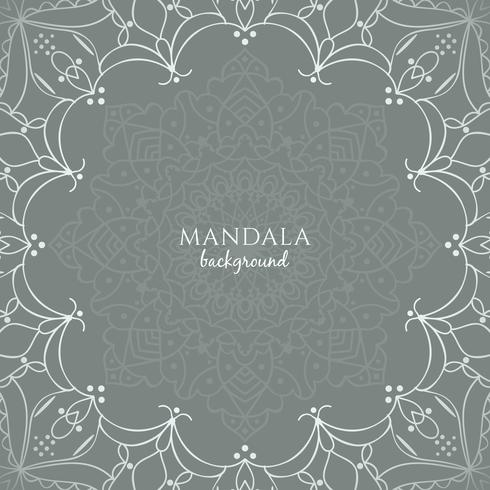 Abstract beautiful luxury mandala background vector