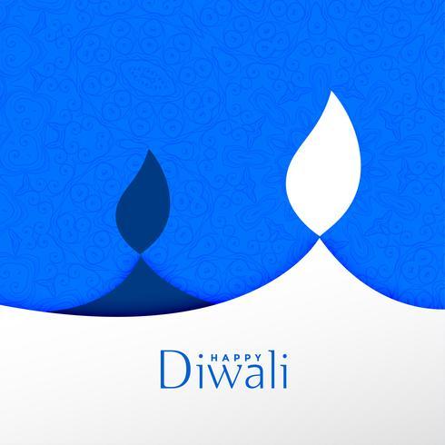 gelukkige diwali festival achtergrond met creatieve diya ontwerp