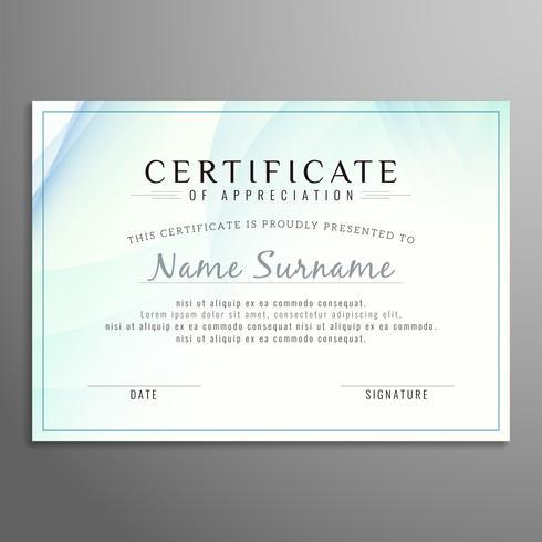 Fundo abstrato moderno certificado ondulado