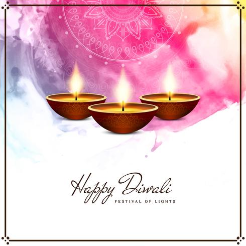 Abstract Happy Diwali beautiful religious background vector