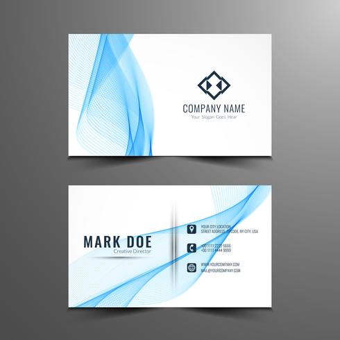 Abstract stylish wavy business card design