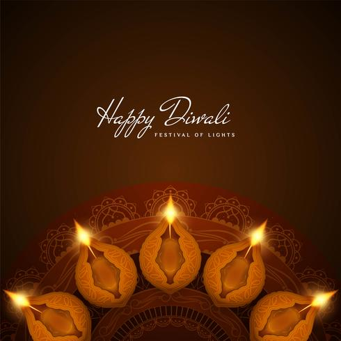 Fondo decorativo di Diwali felice alla moda astratto
