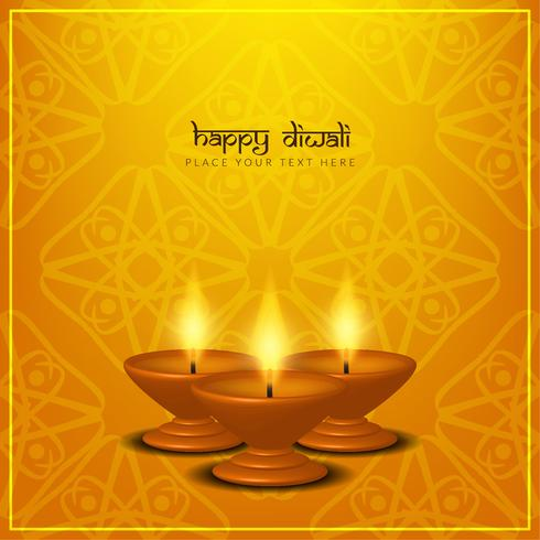 Fondo feliz hermoso abstracto del saludo de Diwali