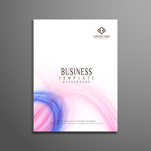 Diseño de plantilla de volante de negocios ondulado colorido abstracto vector