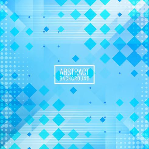 Fondo de mosaico poligonal azul abstracto