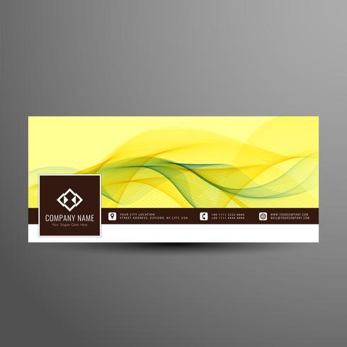 Modelo de banner do cronograma colorido abstrato facebook