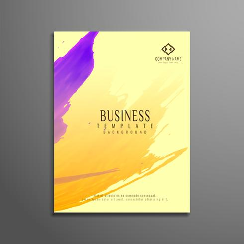 Abstract watercolor business flyer template design