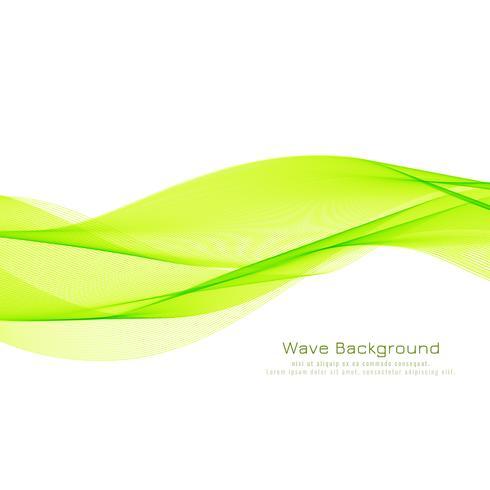 Priorità bassa alla moda dell'onda verde astratta