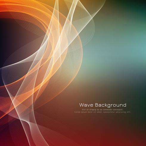 Fondo brillante de la onda colorida abstracta vector