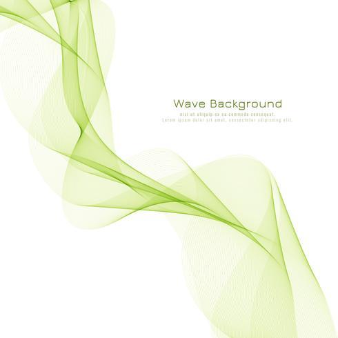 Fondo elegante abstracto de la onda verde vector
