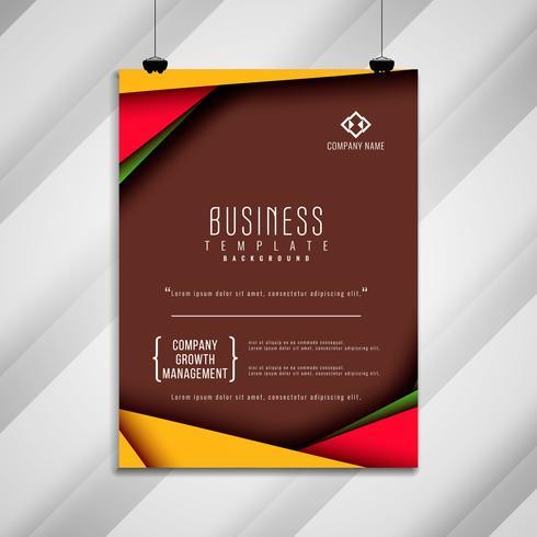 Abstrakt affärs broschyr mall design