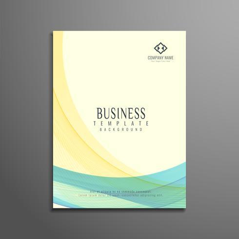 Modello di progettazione di onda astratta business flyer