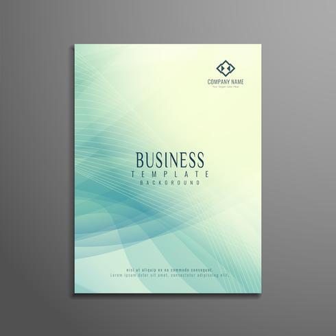 Diseño de plantilla de volante de negocio abstracto vector