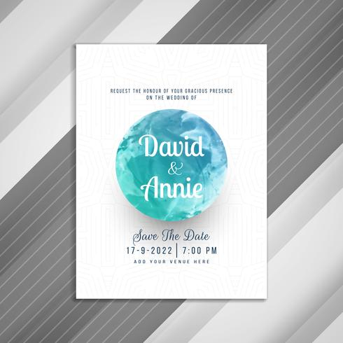 Abstract beautiful wedding Invitation card design vector