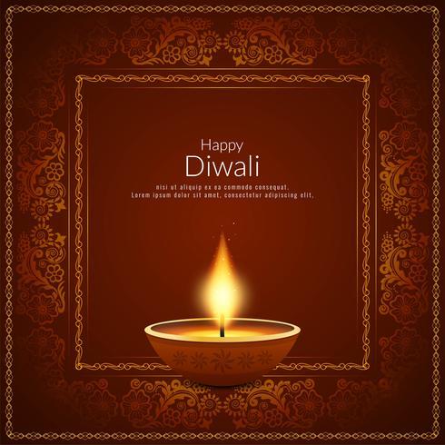 Fondo di festival indiano di Diwali astratto felice