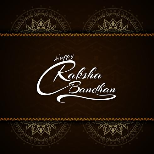 Résumé festival de conception de texte joyeux Raksha bandhan