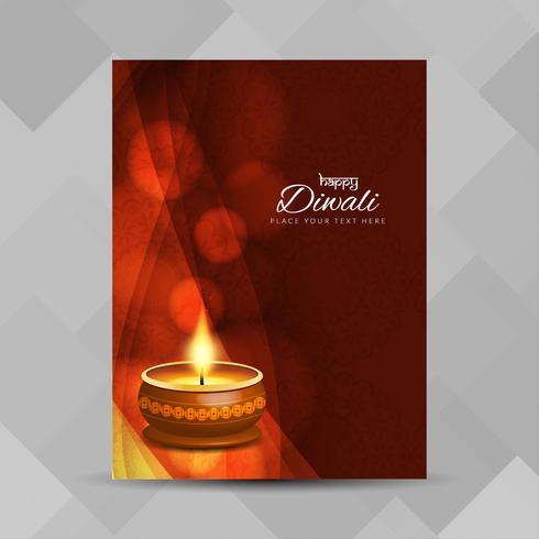 Abstracte Happy Diwali religieuze brochure ontwerpsjabloon
