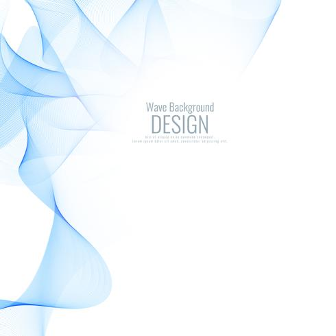 Abstract blue wave background desig vector
