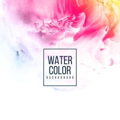 Fond coloré design aquarelle abstraite vecteur