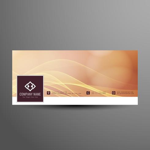 Abstracte facebook tijdlijn banner elegante sjabloon vector