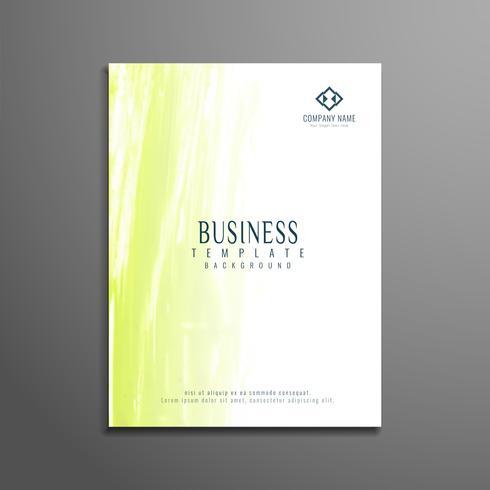 Diseño de plantilla de folleto de negocios acuarela abstracta vector