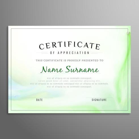 Modello di disegno astratto moderno certificato