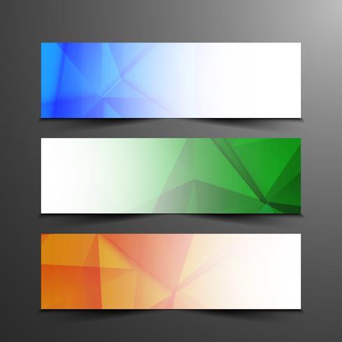 Conjunto de bandeiras modernas abstratas