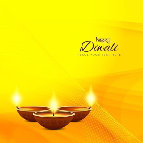Fondo con estilo abstracto feliz Diwali