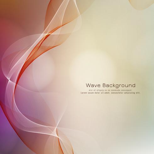 Fondo colorido de la onda estilo abstracto vector