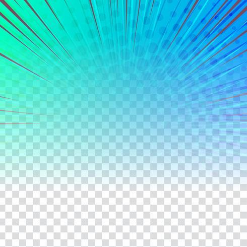 Dessin abstrait coloré sur fond transparent
