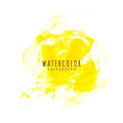 Abstrakt gul akvarell design bakgrund